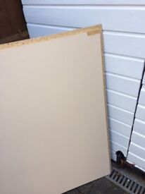 2 pieces of heavy laminated chipboard- approx 1 metre square each- £6 the pair