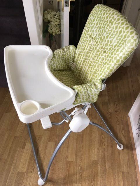 Lime green Mammas and Pappas High Chair for sale