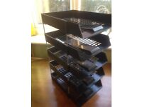 Practically new file racks only £1 each