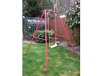 Garden swing and seat - great condition (metal frame)