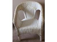 Lloyd Loom style chair.