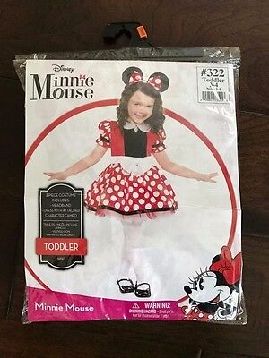 Toddler Girl Minnie Mouse Halloween Costume (Disney Minnie Mouse Toddler Girl Halloween Costume Full Dress & Ears Set 3-4)
