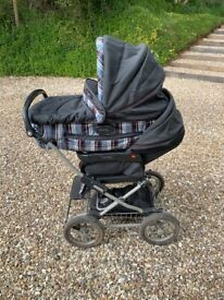 mamas and papas combined pram and stroller, excellent clean condition