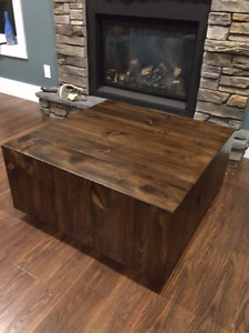 Reclaimed West Elm inspired coffee table