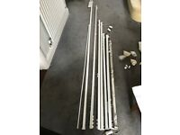 A collection of white curtain tracks and fittings[or separate]