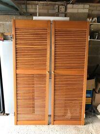 ikea pax tonnes 2 x sliding doors plus rails for use. Black Bedroom Furniture Sets. Home Design Ideas