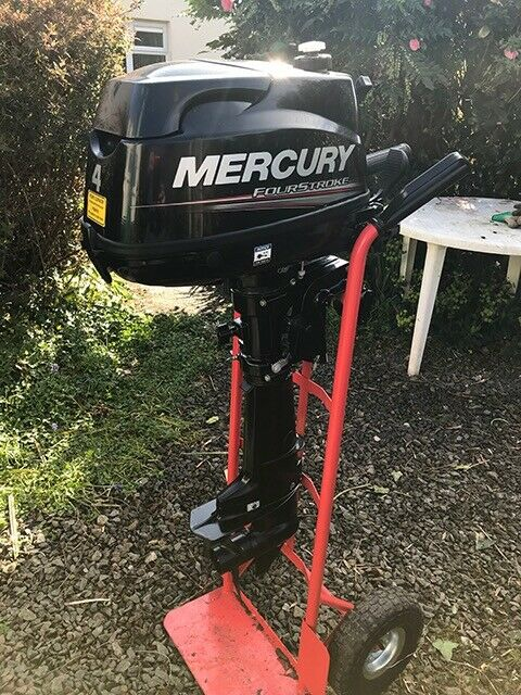 Mercury 4 horse 4stroke outboard Standard Shaft and a 3 5 mtr rubber dingy    in Truro, Cornwall   Gumtree