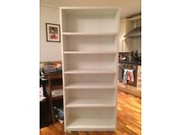 Two White Bookcases, H180cm, great condition