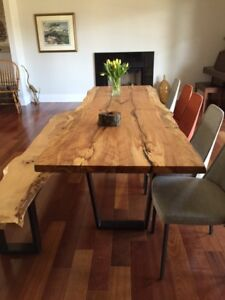 Dinette Live Edge Slab Wood Dining Tables Coffee Console
