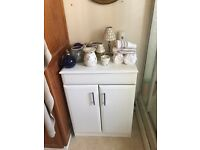 As new white bathroom furniture- cabinet