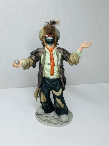"Emmett Kelly Jr. Miniatures Flambro ""Balancing Act"" Clown Limited Edition 8124"