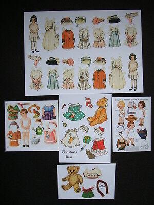 Dolls House Miniature Victorian Paper Dolls Sheets