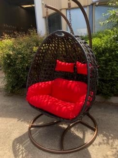 Extra Large Double Swinging Egg Chair - 2nd free orange cushion