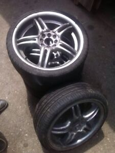 Full set of 17' Rims and Tires