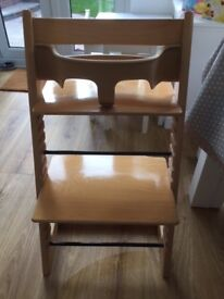 Stokke Tripp Trapp Highchair, complete baby set and reins