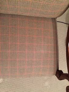 Designer High Back Chair in Glen Plaid-Gently Used London Ontario image 4
