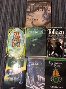 THE HOBBIT & THE LORD OF THE RINGS  book lot - 7 books in total.