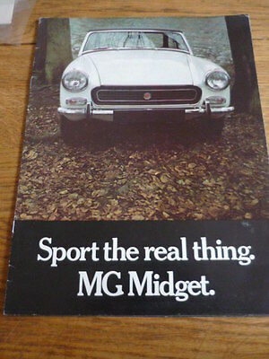 MG MIDGET CAR SALES BROCHURE @ 1971/2