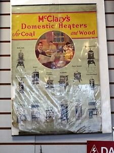 Antique Store Advertising McClay's Domestic Heaters Paper Poster
