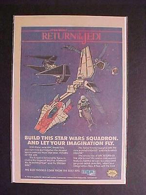 STAR WARS RETURN JEDI SPACE SHIP MPC PLASTIC MODEL KIT TOY PRINT AD~1983 VINTAGE