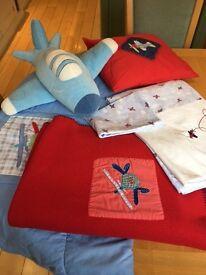 Fabulous Laura Ashley Boys Bedding Set - Aeroplanes (blue and red)