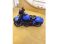 Vintage Collectable *EASY RIDER* Money Box Pottery Motor Bike Cycle BOXED