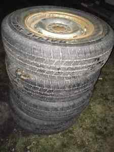 Chevy 6 bolt rims Lt245/75r16 mud and snow Tires winter Strathcona County Edmonton Area image 2