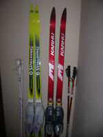 Spalding and Karhu cross country skate skis for sale