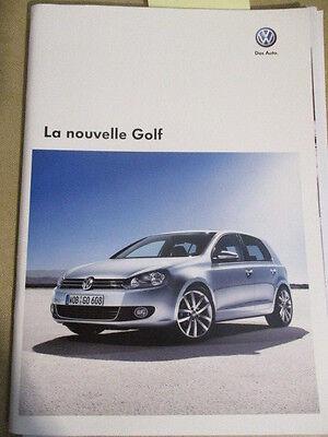 CATALOGUE AUTO : VW VOLKSWAGEN : LA NOUVELLE GOLF 03/2009
