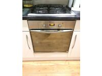 Intergral Stainless Steel Hotpoint Fan Assisted Electric Oven and Gas Hob 60cm in good condition
