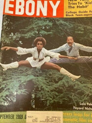Vintage Ebony Magazine Sept 1969 Lola Falana & Fayard Nicholas