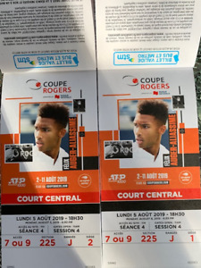 TENNIS COUPE ROGERS - MONTREAL 2019 - LUNDI SOIR