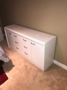 White dresser and chest of drawers