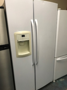White Side By Side Fridge Ice Water Warranty Delivery Available