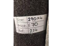 Luxury Pewter carpet remnant - 2.90x4m - £70 - Ref 214
