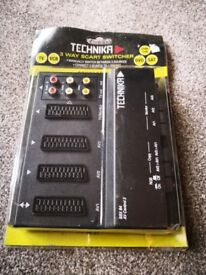 Technika SBX84 SCART switcher connect 3 devices into 1 SCART TV VCR DVD SAT