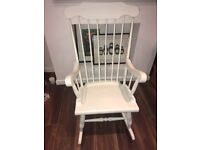 Beautiful vintage solid wood rocking chair painted with Annie Sloane paint - £50 ONO