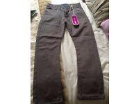 Grey Debenhams Blue Zoo Cigar leg style boys trousers Age 9yrs never worn - tags still on