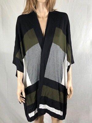 Women's NWT Alfani Colorblocked Cape Cardigan Top Size L/XL