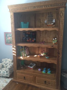 Handcrafted Mexican Wood Bookshelf