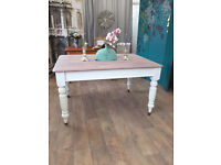 Lovely shabby chic Victorian dining table for six people