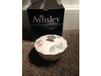 "Aynsley China Wild Tudor Butterfly Powder Bowl 4"" dia (BRAND NEW in box) Collect Eh11"