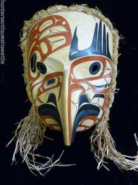 "Impressive  Tsimshian  Mask by David Boxley, ""Eagle Spirit""  signed Dated 1999"