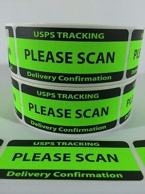 Usps Tracking Delivery Confirmation Please Scan Labelsstickers 100 1.25x3 Ebay