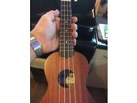 ukulele soprano hand crafted solid mahogany top lovely uke by ohana with extras