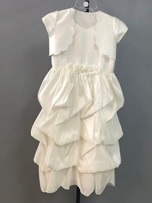Flower Girl Dresses With Jackets (Flower girl dress with jacket, Mori Lee, ivory, size 8, new with)