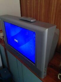 "Grundig Colour 26"" Silver Television"