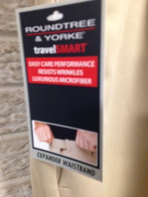 NEW Roundtree & Yourke mens khaki PLEATED dress shorts sz 44W NWT $46 #C50