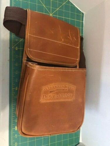 Vintage Dove Hunt Leather Brown Game Adjustable Shoulder Bag - Preowned