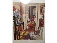 FCB Cadell framed print . 'Interior the Croft House'